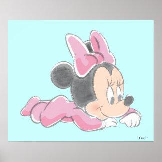 Bebé Minnie Mouse Póster