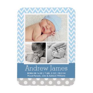 Bebé modelado de la invitación el   del nacimiento rectangle magnet