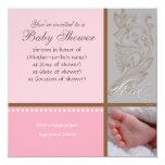 Bébé Modern Swirl n Dot - Baby Girl Shower Invite