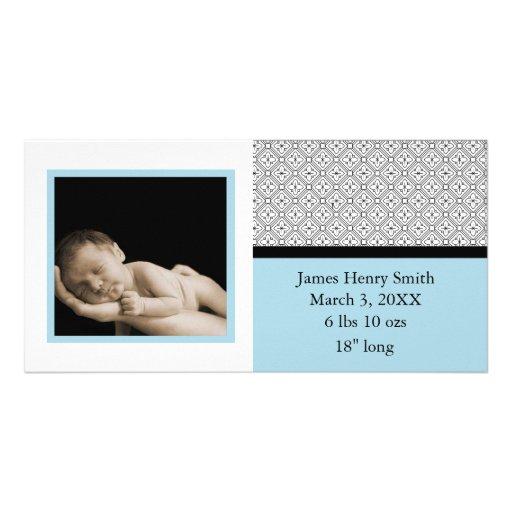 Bebé moderno (azul) tarjetas fotograficas