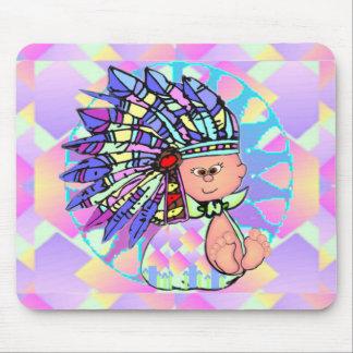 Bebé Mousepad del nativo americano Alfombrilla De Ratón