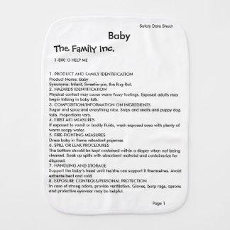 Bebé MSDS/paño del burp del SDS Paños Para Bebé