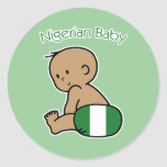 Bebé nigeriano pegatinas redondas
