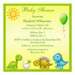 Bebé nuevamente tramado Dino y fiesta de bienvenid Invitaciones Personalizada