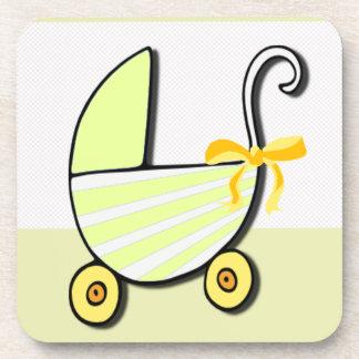 Bebé o fiesta de bienvenida al bebé agradable posavaso