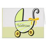 Bebé o fiesta de bienvenida al bebé agradable felicitación