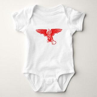 Bebé onza - Camiseta coa alas del mono Poleras