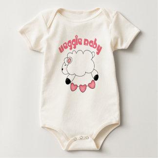 Bebé orgánico de la niña del Veggie Body Para Bebé