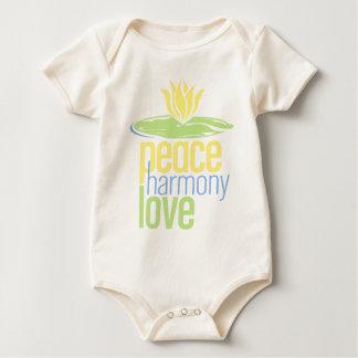 Bebé orgánico de la paz body para bebé