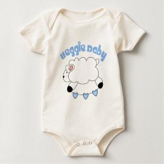 Bebé orgánico del bebé del Veggie Mamelucos