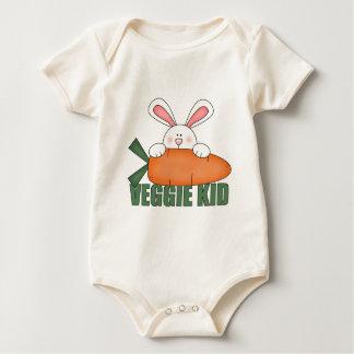 Bebé orgánico del conejo del niño del Veggie Body De Bebé