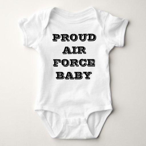 Bebé orgulloso de la fuerza aérea de la enredadera remeras