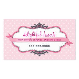 Bebé pálido en colores pastel rosado elegante lind plantilla de tarjeta personal