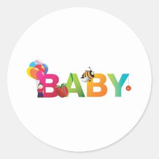 bebé pegatinas redondas