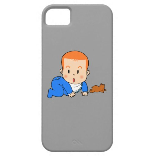 Bebé pelirrojo lindo iPhone 5 protector