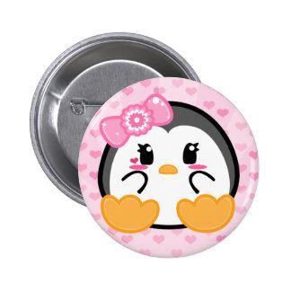 Bebé Penquin - botón del chica