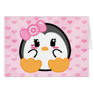 Bebé Penquin - tarjeta del chica