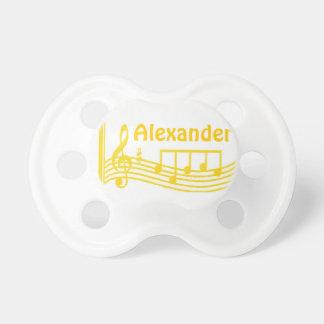 Bebé personalizado Binky de los instrumentos music Chupetes De Bebe