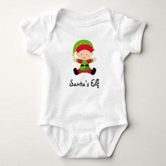 Bebé personalizado duende del navidad de Santa Playeras