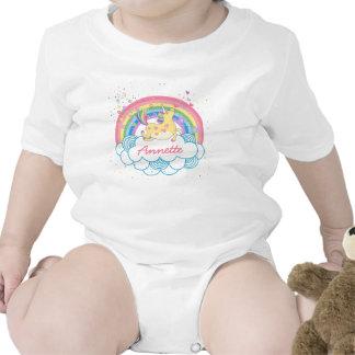 Bebé personalizado lindo Tshir de los chicas del Trajes De Bebé