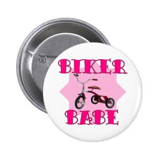 Bebé /pink del motorista pin redondo de 2 pulgadas