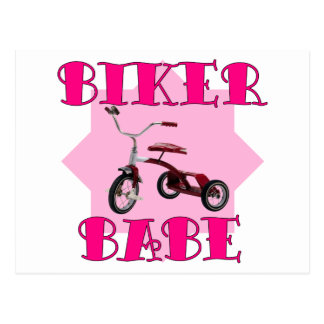 Bebé /pink del motorista tarjetas postales