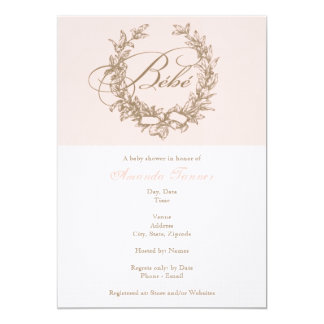 Bebe - Pink French Baby Shower Invitation