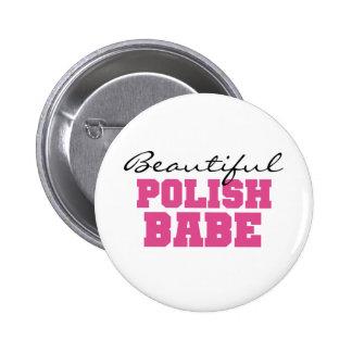 Bebé polaco hermoso pin redondo de 2 pulgadas