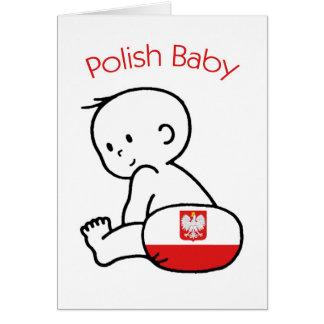 Bebé polaco tarjeta de felicitación