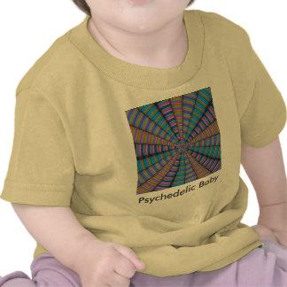 Bebé psicodélico camisetas