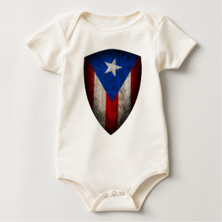 Bebé puertorriqueño de la bandera mamelucos
