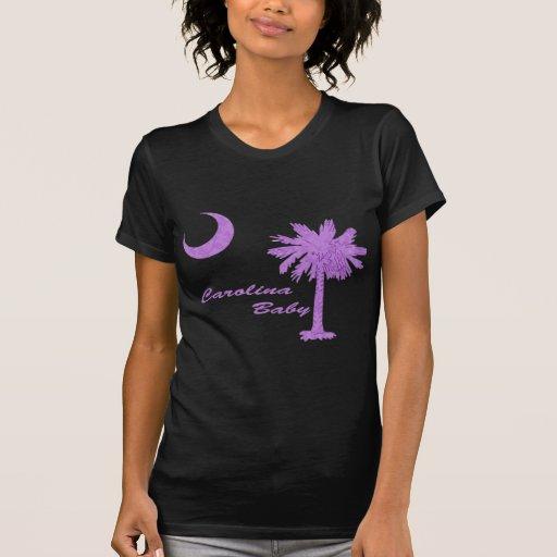 Bebé púrpura de Carolina Camiseta