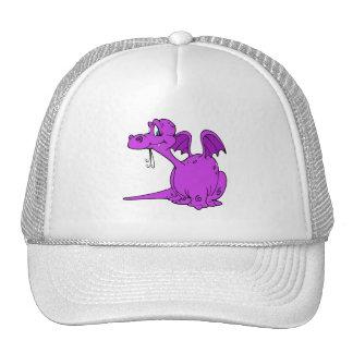 Bebé púrpura lindo del dragón gorras de camionero