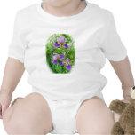 Bebé púrpura Onsie del trío del iris Traje De Bebé