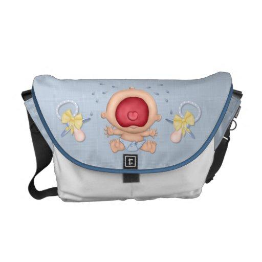Bebé que grita bolsa de mensajería