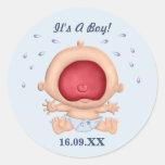Bebé que grita es pegatina del muchacho