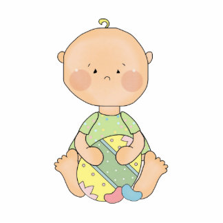 bebé que sostiene el huevo de Pascua Fotoescultura Vertical