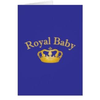 Bebé real con la corona de oro felicitaciones
