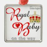 Bebé real de Guillermo y de Kate en la manera Ornamento Para Arbol De Navidad