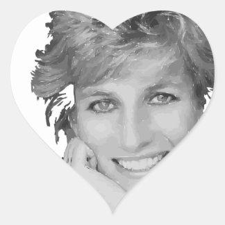 Bebé real - princesa de Diana Pegatina En Forma De Corazón