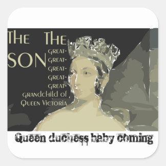 Bebé real: Príncipe Guillermo y Catherine Pegatina Cuadrada