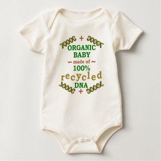Bebé reciclado orgánico divertido de la DNA Mamelucos