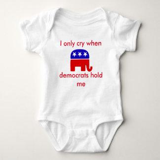 Bebé republicano divertido Onsie, bebé gritador Body Para Bebé