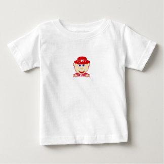 Bebé rojo de la excursión de los niños del bebé de remeras