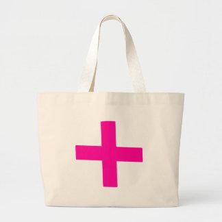 Bebé rosado bolsa tela grande