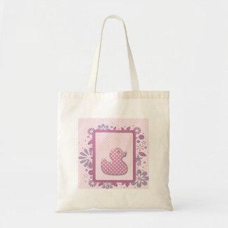 bebé rosado ducky bolsa tela barata