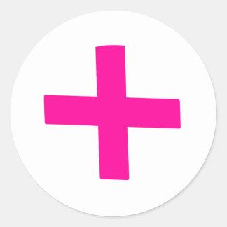 Bebé rosado pegatina redonda