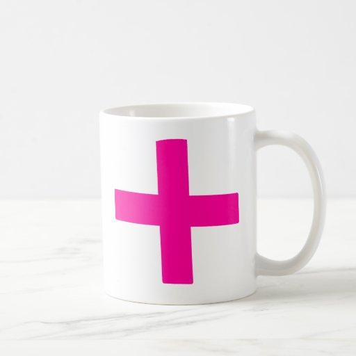 Bebé rosado taza clásica