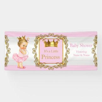 Bebé rubio blanco del oro del rosa de la princesa