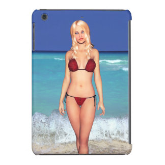 Bebé rubio de la playa del bikini fundas de iPad mini retina
